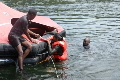 student-getting-into-raft