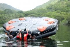 climbing-on-raft