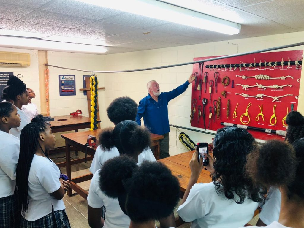 Caribbean Fisheries training and Development Institute. Captain Wild and the students.
