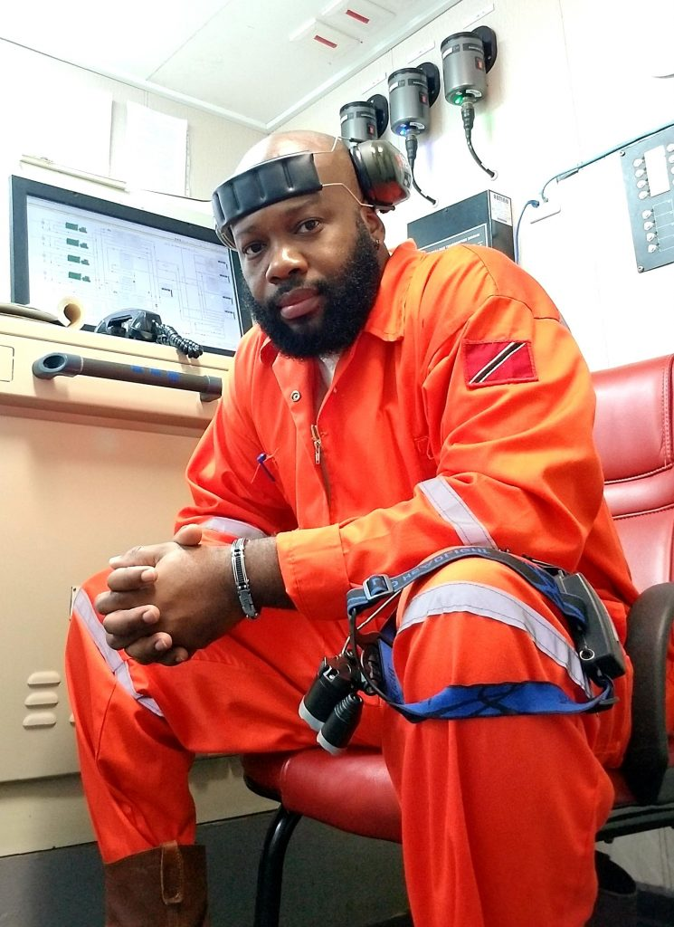 Atiba Campbell - Engine control room of vessel, keeping watch at shift